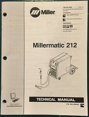 Millermatic 212 Welder Technical Manual