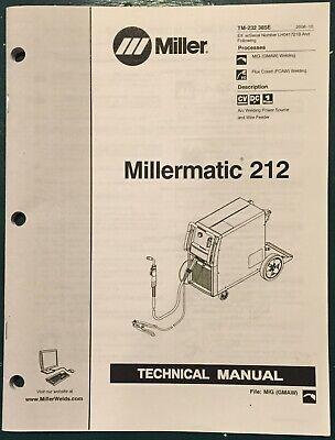 Millermatic 212 Welder Technical Manual