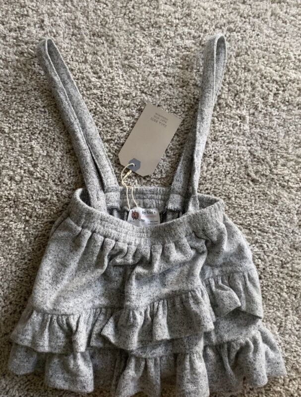 Zara Girls Skirt And Auspenders 2/3t