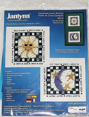 Sun and Moon Cross Stitch Kity by janlynn 5 x 5