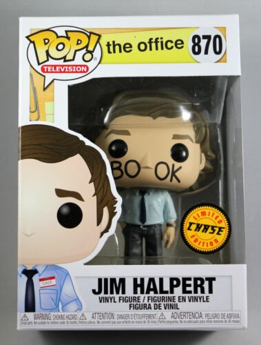THE OFFICE JIM HALPERT FACEBOOK CHASE FUNKO POP VINYL FIGURE 870 LIMITED EDITION