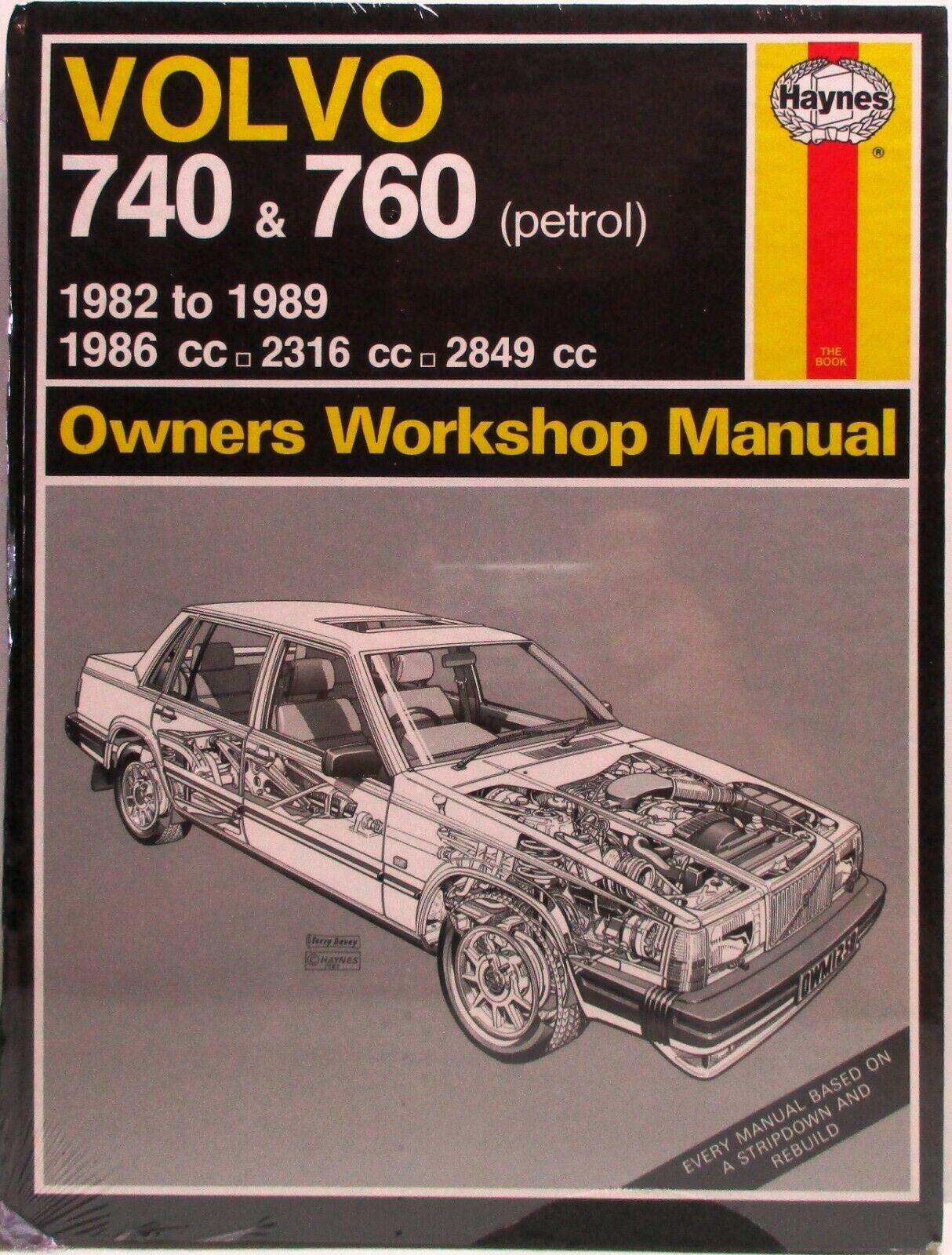 Haynes Workshop Manual Volvo 740 Volvo 760 Petrol 1982-1991 New Service Repair