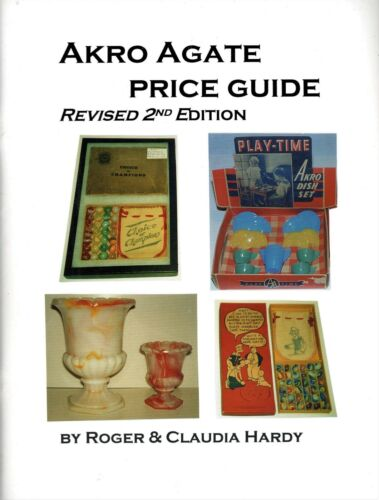 Antique Akro Agate Glass - Childrens Toy Dishes Novelty Items / Book + Values