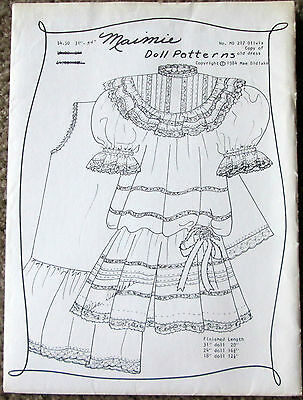 "MAIMIE Doll Pattern OLIVIA 10"" #217 DRESS DRAWERS SLIP SKIRT for 31-34"" Doll"