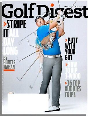 Golf Digest - 2014, January - Stripe it All Day Long by Hunter Mahan, (Golf Digest Putting)