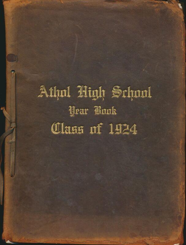 Athol MA Athol High School yearbook 1924 Massachusetts