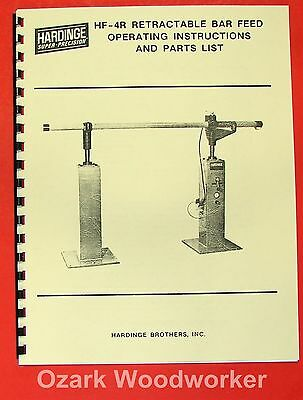 HARDINGE HF-4R Bar Feeder Operator's & Parts Manual 0341
