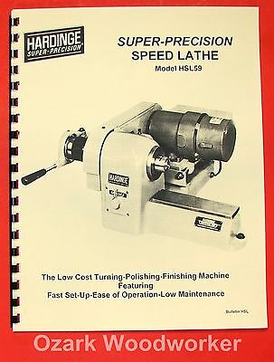 Hardinge Hsl59 Speed Lathe Catalog 0346