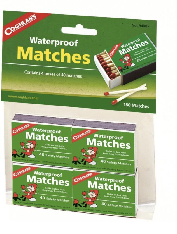 Camping Coghlans Waterproof Matches Hi tech 4 pk. Have Camp Fire Any Weather Ip