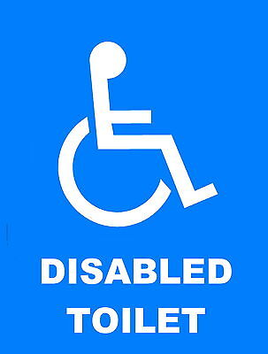 Disabled Toilet Sign Metal Aluminium Work / Site / Shop /  Safety Sign