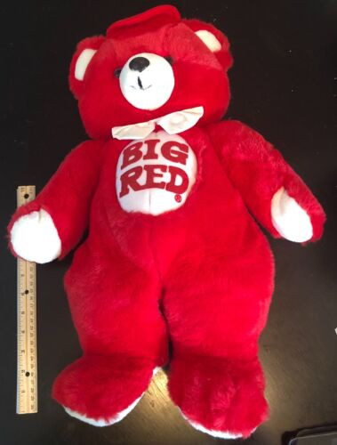 """Collectible Big Red """"Big Red"""" Soda Brand Plush 21"""" Teddy Bear Excellent Shape"""