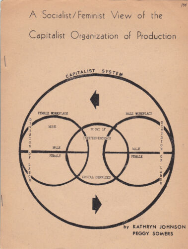 1972 mimeographed SOCIALIST - FEMINIST pamphlet, New American Movement (NAM)