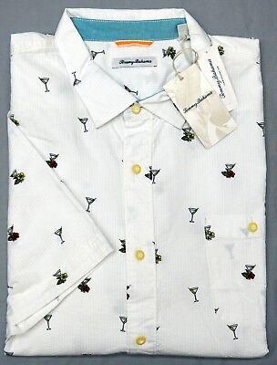 - NWT $135 Tommy Bahama Short Sleeve White Martini Seersucker Shirt Mens 2XL XXLT