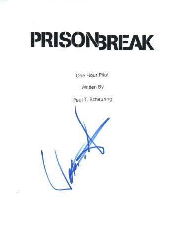 William Fichtner Signed Autographed PRISON BREAK Pilot Episode Script COA