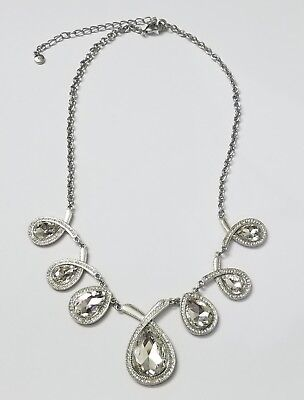 Tear Drop Necklace Rhinestone Adjustable Statement Fashion Jewelry With Extender