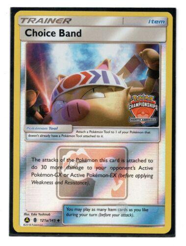 Choice Band Holo STAFF Promo Oceania International Championships Pokemon 121a