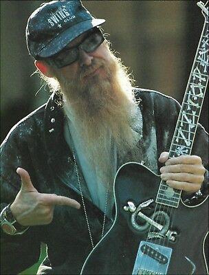 ZZ Top Billy Gibbons Custom Snake Fender Telecaster guitar 8 x 11 pin-up photo ()
