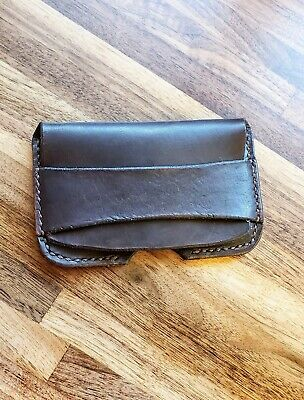 Distressed Black Leather Handmade Business Card Holder