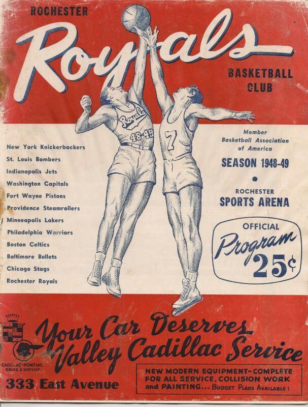 1948-49 Rochester Royals-Pistons Program BAA Royals Win West!!