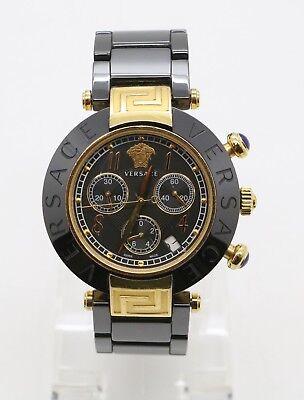 Versace Women's 95CCP9D008 SC09 Reve Chronograph Black Ceramic Bracelet Watch