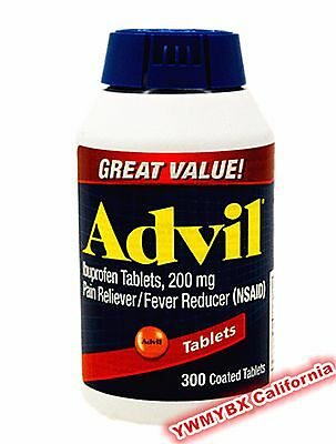 Advil Ibuprofen 200Mg 300 Tablets Pain Reliever Fever Reducer  Free Ship   Red