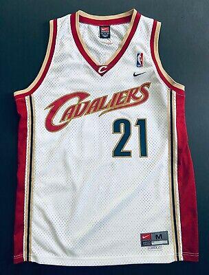 Team Nike Darius Miles #21 Cleveland Cavaliers NBA Men's Medium Sewn Jersey
