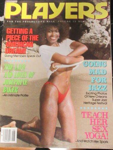 PLAYERS VOLUME 15 # 6 VINTAGE AFRICAN AMERICAN COLLECTABLE MAGAZINE