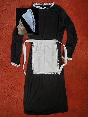 Downton Abbey Maid Costume (LARGE ADULTS VICTORIAN MAID COSTUME 50 in  DRESS * APRON SCARF HAT downton)
