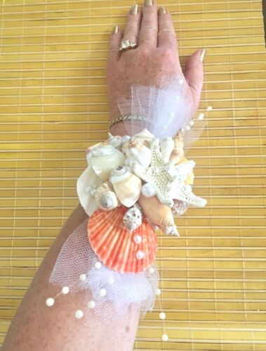 Mermaid Tropical Real Seashells Corsage One-Of-A-Kind