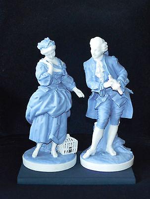 Antique Continental Parian Figurines Pair of