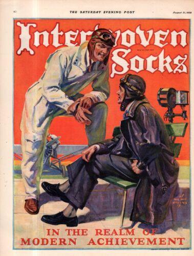 1929 Interwoven Socks Aviators Ad - Men