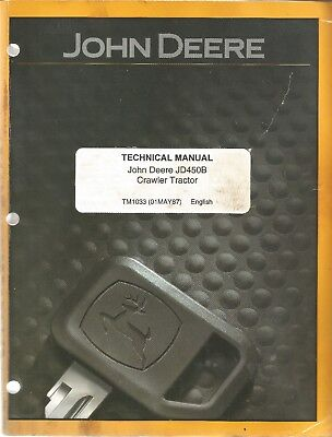 John Deere Jd450b Crawler Tractors Loader Technical Service Manual
