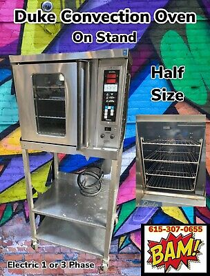 Duke 59-e3v-59-bs Commercial Half-size Electric Convection Oven W Base Stand