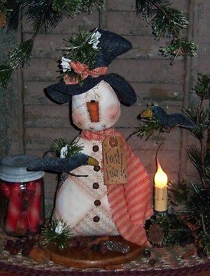 Primitive Patti's Ratties Christmas Crow Snowman Doll Ornie Paper Pattern #384