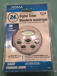Noma Digital Auto On / Off Timer - great for Security (New)