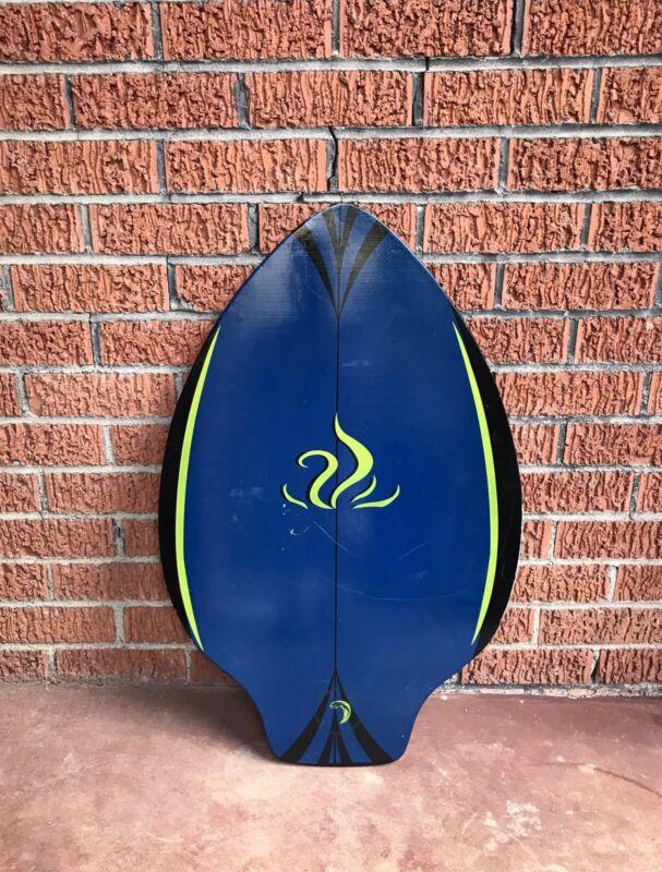 "Vintage Wood Skimboard Graphic Wake Body Boogieboard 29 3/4 ""x 19"""