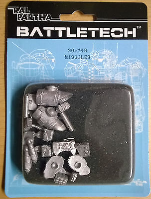 Ral Partha Battletech 20-748 Missiles (Mint, Sealed) *Unseen*