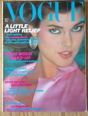 Vogue Magazine April 1 1980,Spotlight on Cecil Beaton, Kaffe Fassett by Snowdon