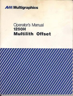 Ab Dick Multi Multilith 1250n Operator Manual Pdf File015