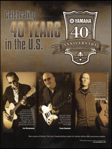 Yamaha Guitars 40th Anniversary ad Joe Bonamassa Billy Sheehan Frank Gambale