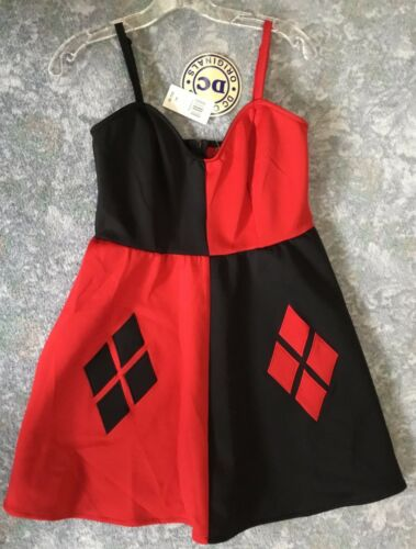 NWT Harley Quinn Dress Medium DC Hot Topic