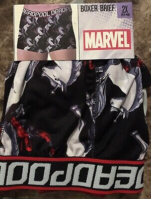 New Marvel Deadpool Boxer Brief Mens Size 2X 44-46
