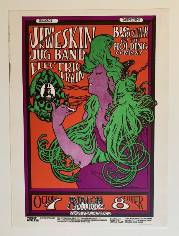 Jim Kweskin Jug Band And Big Brother And The Holding Company Poster 1970 Version