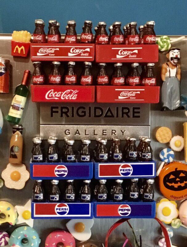 3D Coke Pepsi Fridge Magnet Lot Handcrafted 👻🧲 (2) Crates