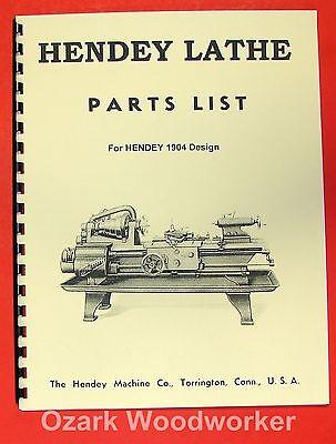 Hendey Old Cone Head Metal Lathe Parts Manual 0355