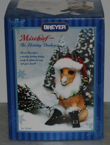 Breyer~2002~Mischief the Holiday Donkey~Brighty~Christmas~NEW