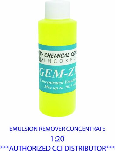 CCI GEM-ZYME stencil and emulsion remover concentrate, 4oz