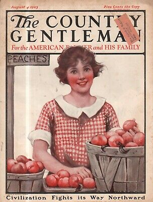 Country Gentleman Cover (1923 Country Gentleman Cover (only) August 4 - Roadside Peach Stand seller)