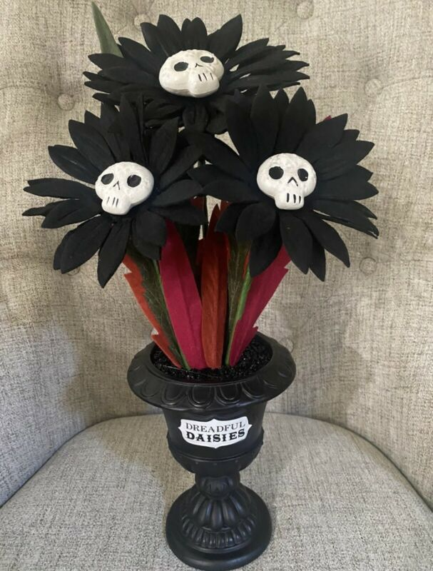 Target Hyde and Eek Halloween Ghoulish Garden Faux Dreadful Daisies SOLD OUT