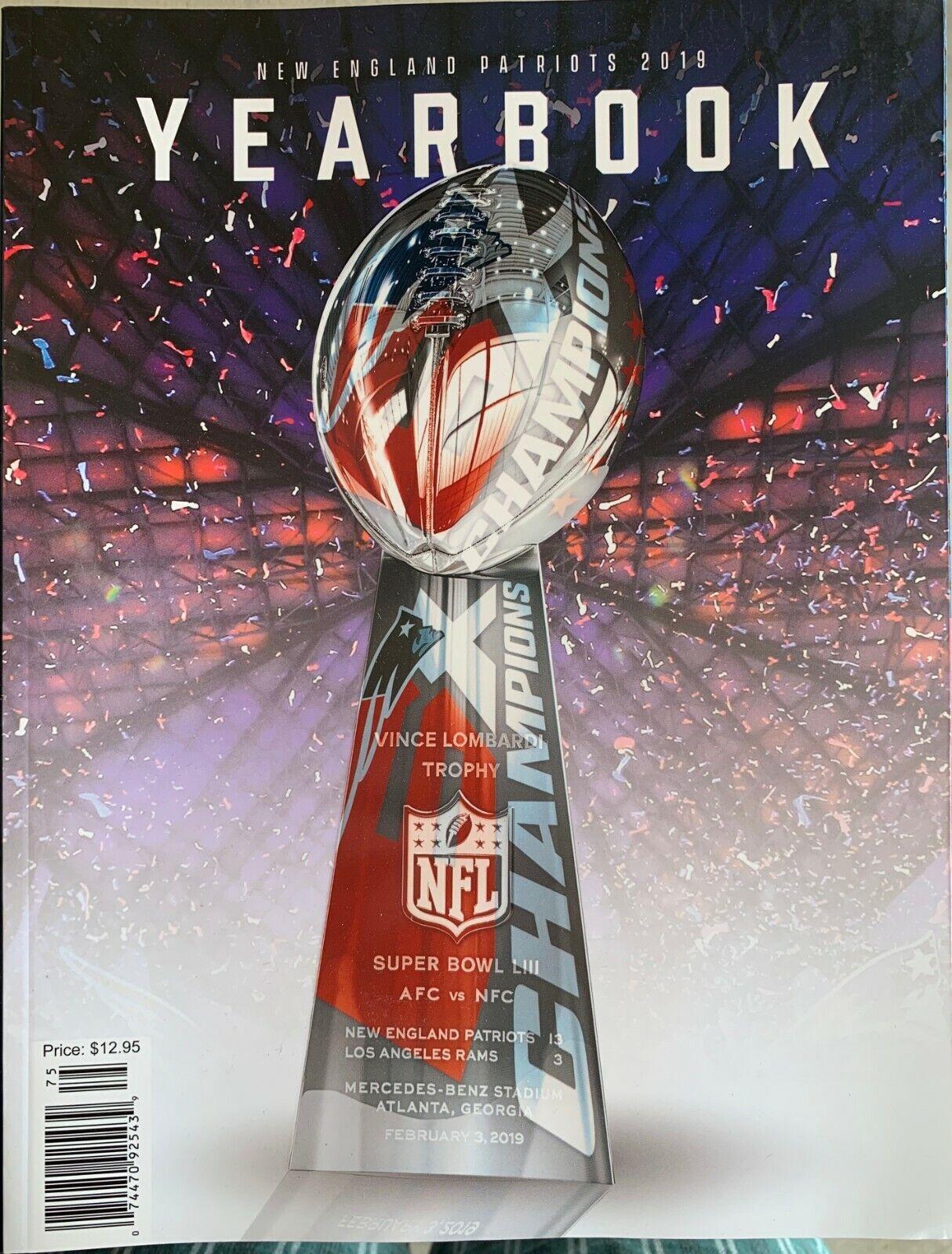 2019 New England Patriots Yearbook Nfl Football Program 2020 Super Bowl Ebay